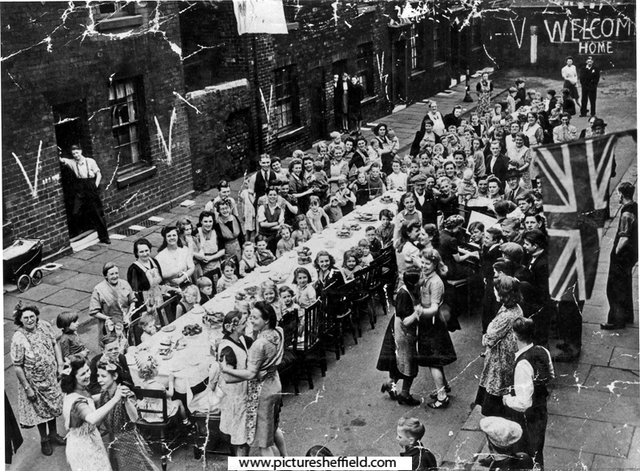 VE Day in Colwall Street, Attercliffe