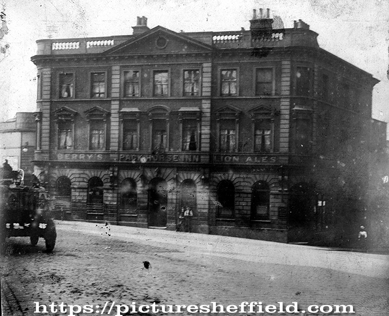 Pack Horse Inn, No. 2 West Bar, junction of Snig Hill (former Newhall Street)