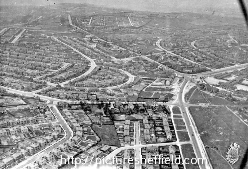Aerial View - Arbourthorne Estate under construction