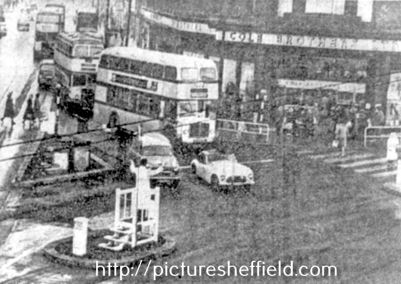 Church Street, High Street and Fargate junction