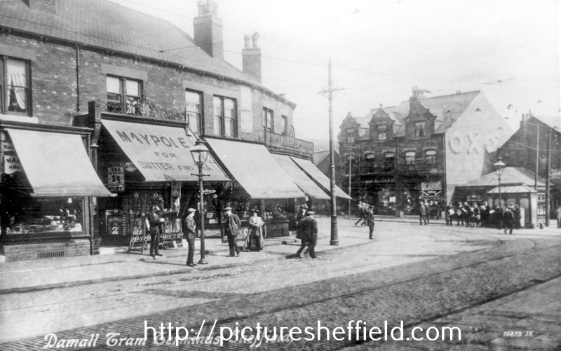 Darnall Tram Terminus, Staniforth Road and Main Road (with the public lavatories), Darnall