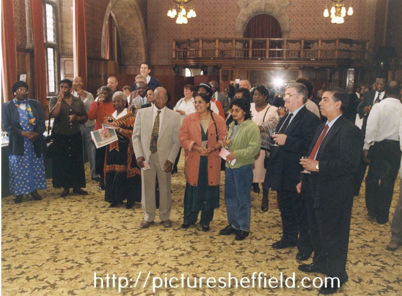 Sheffield Windrush Celebrations, organised by Sheffield Libraries and Information Services, meeting at the Town Hall