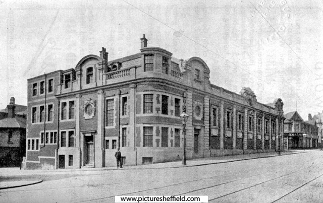 Glossop Road Baths, Glossop Road and Cavendish Street