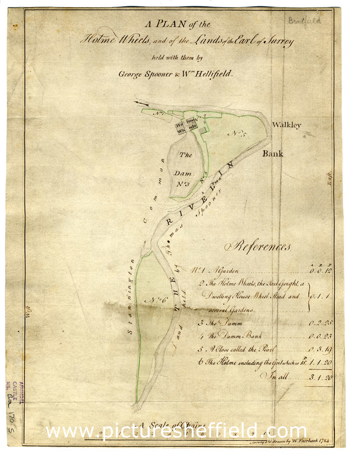 A plan of the Holme Wheels, and of the lands of the Earl of Surrey held with them by George Spooner and William Hellifield