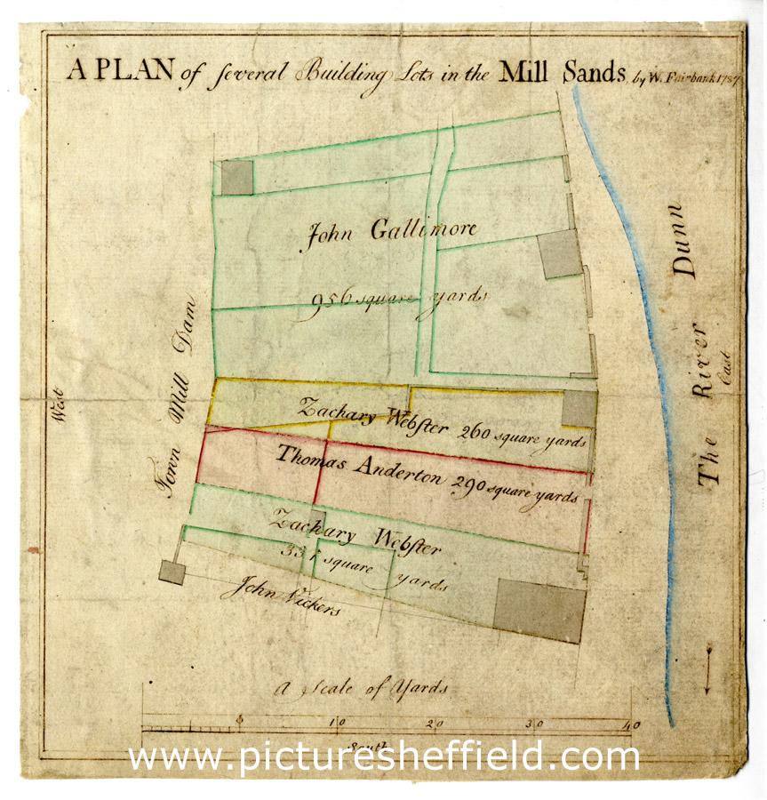 Plan of several building lots in the Mill Sands