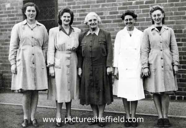 Welfare staff, W. T. Flather Ltd., Bright Steels, Sheffield Road, Tinsley