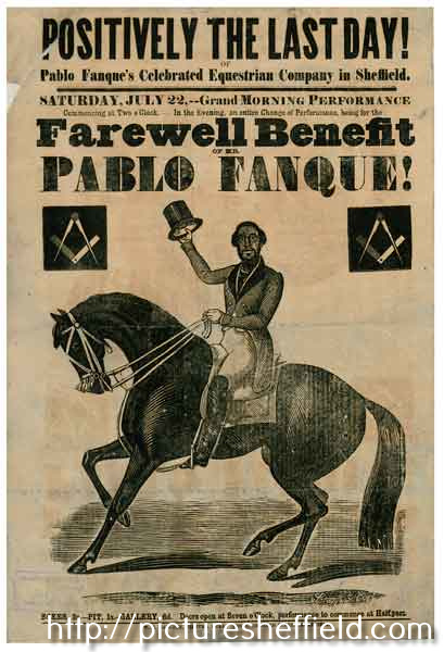 Positively the last day - Pablo Fanque's Celebrated Equestrian Company in Sheffield