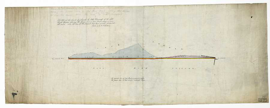Plan of the land purchased by John Dewsnap of the late Hugh Spooner shewing the former line of foot road along or over the same also the line of the present foot road as now diverted, [1818]