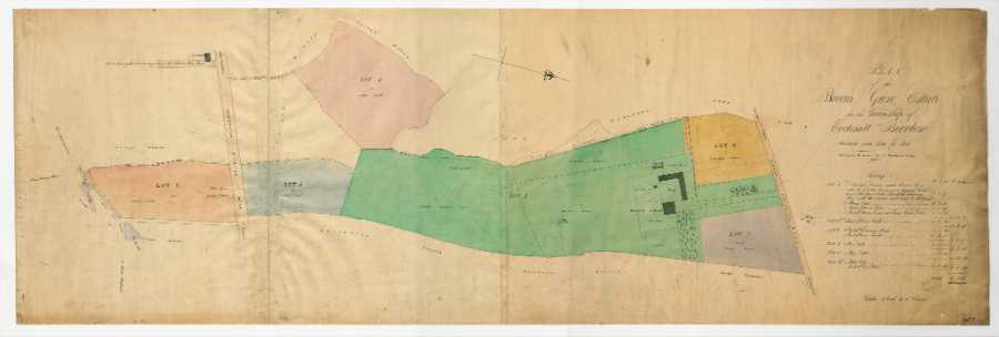 Plan of Broom Grove estate in the township of Ecclesall Bierlow divided into lots for sale