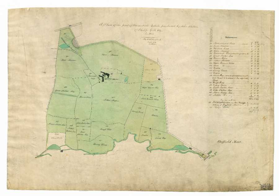 A Plan of the part of Broomhall estate purchased by John Watson of Philip Gell, in 1802, [plan dated 1823]