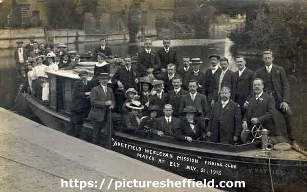 Sheffield Wesleyan Mission Fishing Club. Match at Ely, Cambridgeshire