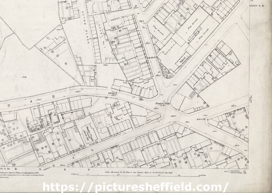 Ordnance Survey Map, sheet no. Yorkshire 294-3-17 (south east)
