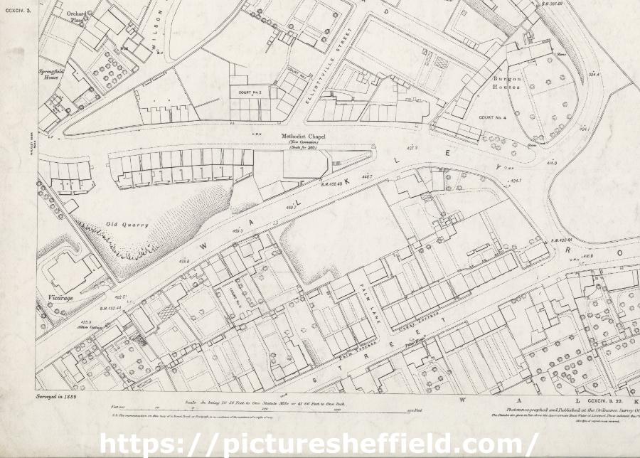 Ordnance Survey Map, sheet no. Yorkshire 294-3-17 (south west)