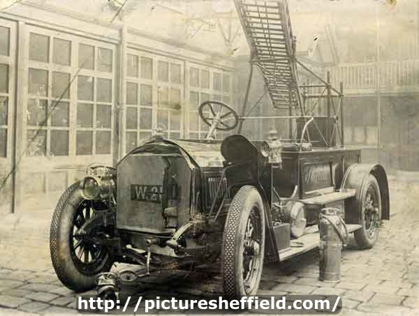Sheffield Fire Brigade's Motor Escape at West Bar Green Fire Station