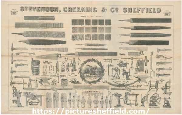 Stevenson, Greening and Co., Royds Works [Attercliffe] - illustration of tools made