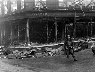 W. Foster and Son, tailors, Waingate, air raid damage