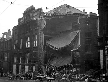 J.W.Northend, Printers, West Street, air raid damage