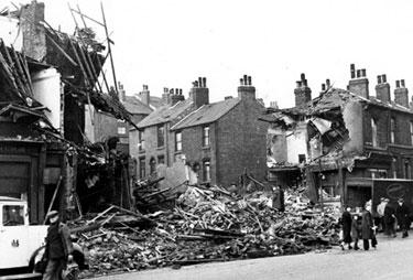 Ellesmere Road / Clun Road, air raid damage