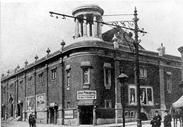 The Star Picture House, Ecclesall Road junction of William Street. Opened 23 December 1915. The first sound film was shown 23 December 1929. Closed as a cinema 17 January 1962. Reopened as Star bingo hall until 1984. Demolished October 1986