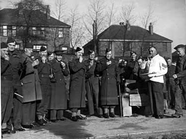 Cooking demonstration at Norbury Hall for Col. F.A. Neill and Col. Broughton