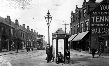 Public lavatories (known locally as 'Iron Duke' or 'Iron Man') on Main Road, Darnall