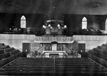 Interior of Mount Tabor United Free Methodist Chapel, Wellington Street