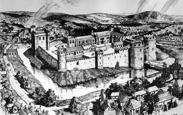 Artist's Impression of Sheffield Castle around 1100