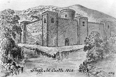 Artist's Impression of Sheffield Castle around 1060