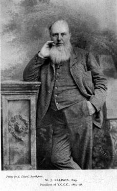 Michael Joseph Ellison (1817 - 1898), President of Yorkshire County Cricket Club. 1863-98