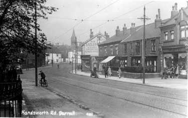 Main Road, Darnall, including Nos. 273 and 275, W and E Sadler Ltd., builders, Nos. 289-293, Brightside and Carbrook Co-operative Society