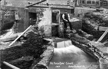 Old Horse Dyke' culvert, River Porter, junction of Cemetery Road and Ecclesall Road