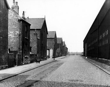 Blaco Road looking towards the gates of Carbrook Park, showing No. 5