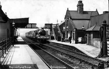 Express Flying through Darnall Station,