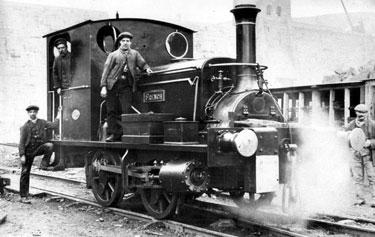 Steam Locomotive 'French' used in construction of Derwent Valley waterworks