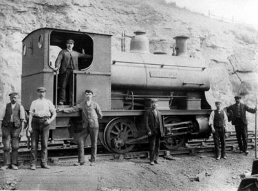 Colliery Engine 'Birley No. 5', most probably at Beighton Colliery, Sheffield Coal Co.