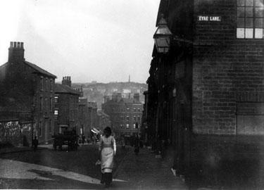 Howard Street, corner of Eyre Lane, looking down to Midland Station Hotel