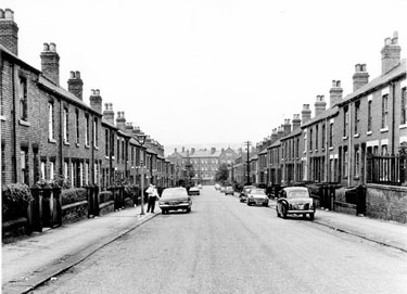 Slate Street looking towards Heeley Bank Road and St. Elizabeth's Home for the Aged
