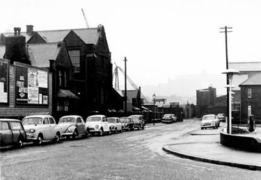 College of Technology Department of Buildings (later Parkwood College), former Salmon Pastures School, Warren Street looking towards Beeley Foundry Light Castings Ltd