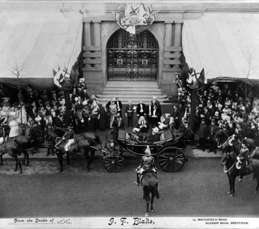 Queen Victoria officially opening the Town Hall