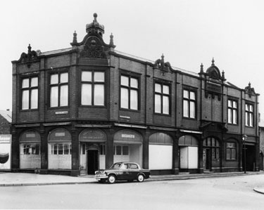 Kirkbridge Road Brightside and Carbrook Co-op at the junction of Attercliffe Common, Old Offices and Store built 1902