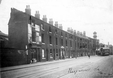 Neepsend Lane with Rutland Picture Palace visible at the junction of Burton Street / Rutland Road