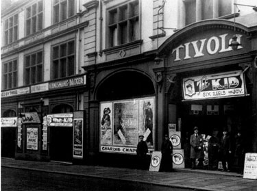 Tivoli Cinema, Norfolk Street. Originally The Central Hall, opening as a cinema on 10 July 1905. Renamed the New Tivoli on 12 January 1914. Damaged by fire in 1927, the cinema was damaged in the Blitz 1940 and never reopened as a cinema