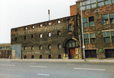 Derelict Carter and Sons Ltd., manufacturing chemists, Attercliffe Road