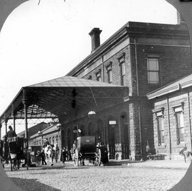 Midland Station with its 1870's frontage before station was enlarged