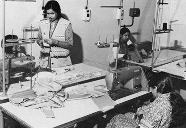 Bangladeshi Women's Sewing Co-operative at Oakes Green Enterprise Workshops