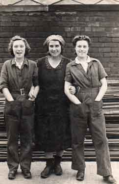 Alice and Joan Procter at Rip Bits, Sheffield during World War Two