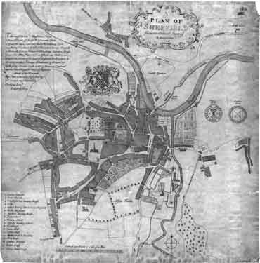 Plan of Sheffield from an actual survey by Ralph Gosling