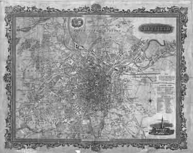A new plan of Sheffield based on the 1850 O.S. map, with revisions from 1850-1863