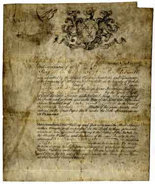 Certificate of admittance to the Company of Cutlers in Hallamshire of Matthias Spencer, the son of Thomas Spencer and apprentice of William Bingley of Sheffield, silversmith
