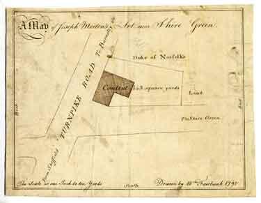 A map of Joseph Morton's lot near Shire Green [Shiregreen], 1794/5